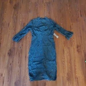 BRAND NEW emerald green lace dress